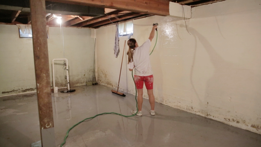 basement floor cleaning home ideas decoration